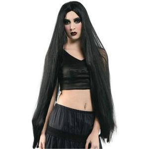 перука черна 105 см