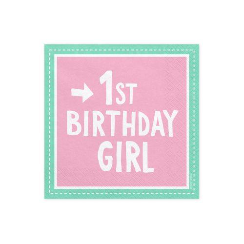 САЛФЕТКИ 1st BIRTHDAY GIRL