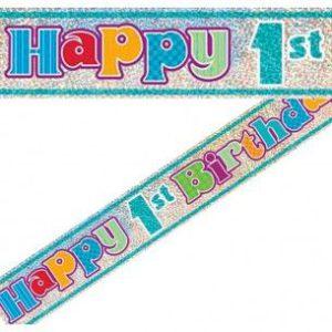 БАНЕР HAPPY 1 -th BIRTHDAY