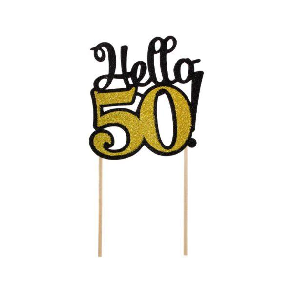 ТОПЕР ЗА ТОРТА HELLO 50