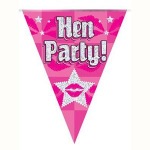 hen-party-bunting-pink-holographic-11-flags-39m