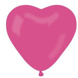 балони сърце цикламени
