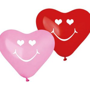 балони сърце смайли 5 бр.